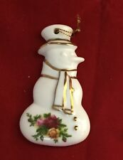 Royal Albert Old Country Roses Christmas Snowman  ornament