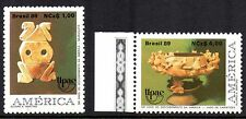 Brazil - 1989 UPAE: Ancient art / Folklore Mi. 2321-22 MNH
