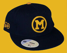 Michigan Wolverines Vintage Logo Fitted Size 7 3/8 Hat Cap NCAA Authentic & NEW