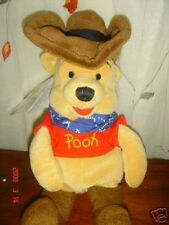 the disney store cowboy pooh bean bag plush retired