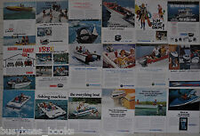 EVINRUDE advertisements x18, 1960-73, EVINRUDE outboard motors & motorboats
