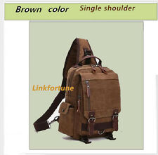 Brown color Small Canvas Backpack One Strap Sling Cross Body/Chest Bag For Men