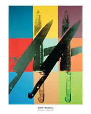 ANDY WARHOL - Knives, 1981-82 - POP ART PRINT Offset Lithograph Poster 16x20