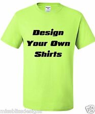100 Design Your Own  Double Sided Printed T-Shirts with 1 Color Print