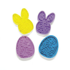 24 Easter Maze Egg & Bunny Shaped Puzzles Egg Hunt Basket Filler Party Favor