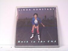 """LINDA RONSTADT """"BACK IN THE U S A / WHITE RHYTHM & BLUES"""" 45w/PS MINT"""