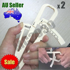 2 x Body Fat Measurement Testing Caliper Skinfold Skin Fold Gym Weight Loss Test