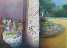 Giuseppe Giannini (Quiesa Lucca 1937-2012) Interno-Esterno Olio T.M.1983 cm51x71