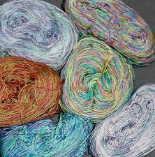 LOT G Hand Dyed Embroidery Knit Tatting Crochet Thread Variegated Rainbow Sz 10