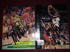Nate McMillan Indiana Pacers NBA Head coach auto autograph 2 basketball card LOT