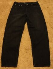 Mens Calvin Klein EASY FIT 36 x 32 Dark Black Jeans actual = 34x32