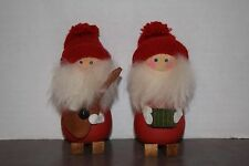 Collectible Festive Pair Of Swedish Musician Decorations