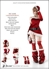 DOLLSFIGURE 1/6 OUTFIT SEXY RED SANTA OUTFIT 10 PIECE SET CC2206 SOLD OUT & VHTF