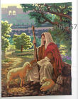 2015 New cross stitch completed finish Jesus Shepherd FREE SHIPPING