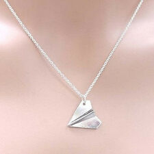 ONE DIRECTION Harry Styles PAPER AIRPLANE Silver Necklace Pendant Plane SP