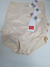 HANES BRIEF WITH LIGHT TUMMY CONTROL #0500 - BEIGE, SIZE XL - LOT OF 3