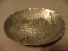Wendell August hammered aluminum small oval dish