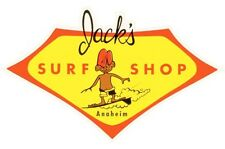 Jack's Surf Shop Anaheim  Surfing   Vintage-1960's  Style  Travel  Decal Sticker
