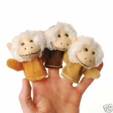 12 Monkey Kids Finger Puppets Zoo Safari Party Goody Loot Bag Toy Favor Supply