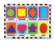 NEW 3730 MELISSA & DOUG SHAPES CHUNKY PUZZLE