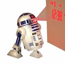 Star Wars R2-D2 PROJECTION ALARM CLOCK With SFX & Moveable Legs & Head