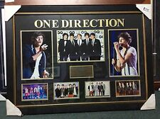 FANTASTIC LARGE ONE DIRECTION FRAMED PHOTOGRAPHIC COLLAGE -  PICK UP WELCOME