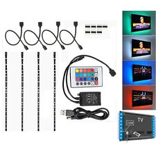 4PCS 40CM RGB LED USB TV MONITOR BACKLIGHT HOME THEATRE LIGHTING 16COLOR CHANGE