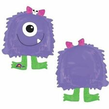 Purple Monster Airwalker Globo Buddie Caminar Globo requiere Helio