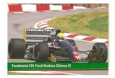 F1 Card - Andrea Chiesa - Fondmetal F01 Ford - Formula 1 Racing