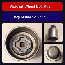 "Genuine Vauxhall Locking Wheel Bolt / Nut Key 200 ""Z"""