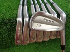 BRIDGESTONE J33 FORGED IRONS 3-PW DYNAMIC GOLD S300 STIFF STEEL USED RH J-33