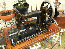 LOVELY ANTIQUE FRISTER ROSSMANN MOTHER OF PEARL SEWING MACHINE