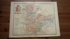 1903 MAPA de Valladolid 1902 por Benito Chias y Carbo (Spain Map España Spagna)
