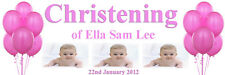 PERSONALISED CHRISTENING BAPTISM BANNER LARGE 1500MM X 500MM ADD PHOTOS ANY TEXT