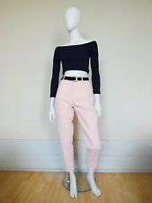 VTG 90s Grunge Light Pastel Pink High Waisted Corduroy Mom Trousers Hipster UK10