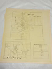 1874 Antique Map/Orwell Village, Orwell Township, Ashtabula County, Oh