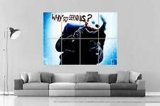 JOKER THE DARK KNIGHT WHY SO SERIOUS Wall Poster Grand format A0  Print