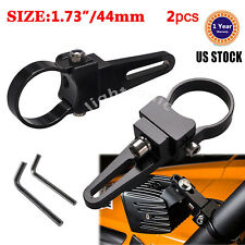 "2x 1.75inch 1-3/4"" Bull Bar/Roll Cage Mount Bracket Clamps For 4x4 LED Light Bar"