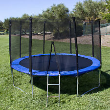 BCP 12' Round Trampoline Set With Safety Enclosure, Padding & Ladder