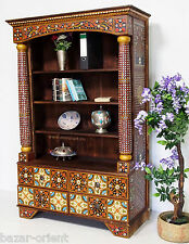 Exklusiv antik-look afghan orient Massivholz Schrank  Regal Bücherregal shelf 16