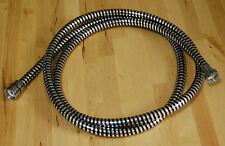 "Rubber Chrome Finish High Flow Hand Shower Hose 2m - 78"" Long - Brand New"