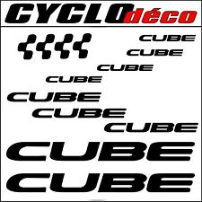 CUBE STICKER AUTOCOLLANT PEGATINAS Mountain Bike Velo Vtt Dh Freeride Downhill