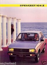 Auto Brochure - Peugeot - 104 Z - 1985 - Francais French language (AB437)
