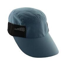 Women-Neck-Face Removeable Flap Hat-Tennis-Jogging-Sun Shield Cap-Slate Blue