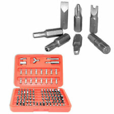 100pc Security Bit Set  Metric & SAE Tamper Proof Torx Star Hex Key Screwdriver