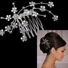 1Pc Rhinestone Plum Flower Hair Comb Headpiece Bridal Wedding Hair Decoration