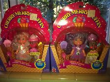 Mint in Box! 1990 Cherry Merry Muffin  & Grape Ice Dolls - ice cream themed