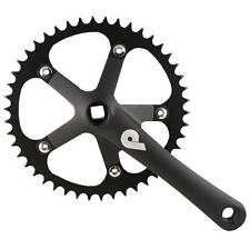 Pake SS Fixie Track 46T 130 BCD Crankset 165mm Square Taper (BLACK)