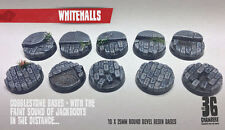 Whitehalls 10 x 25mm round bevel resin bases
