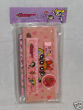 NEW IN PACKAGE 5 -PCS POWERPUFF GIRLS STUDY KIT PENCIL, RULER, ERASER